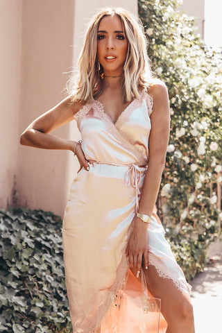 BARE BACK SLIT MAXI DRESS