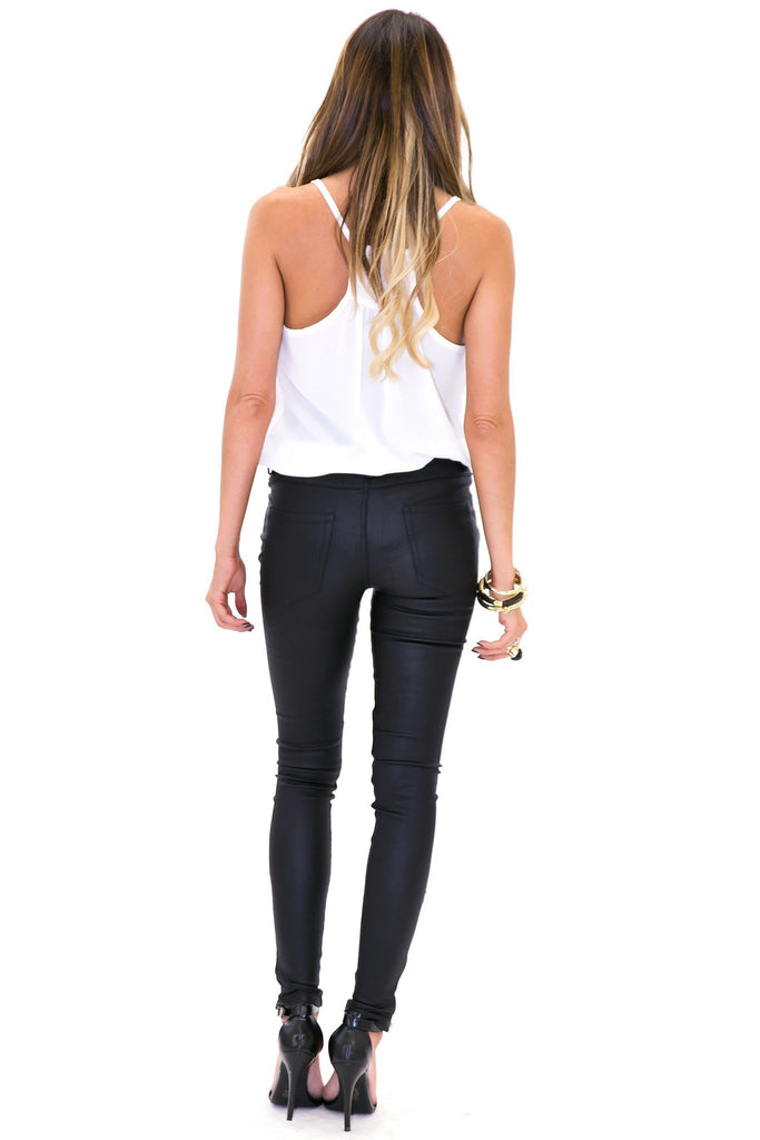 ENDER WAX ZIPPERED PANT - Black