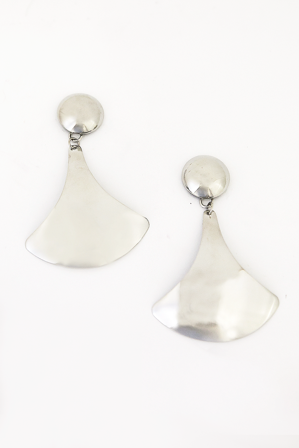 Shape Metal Plated Earring - Silver