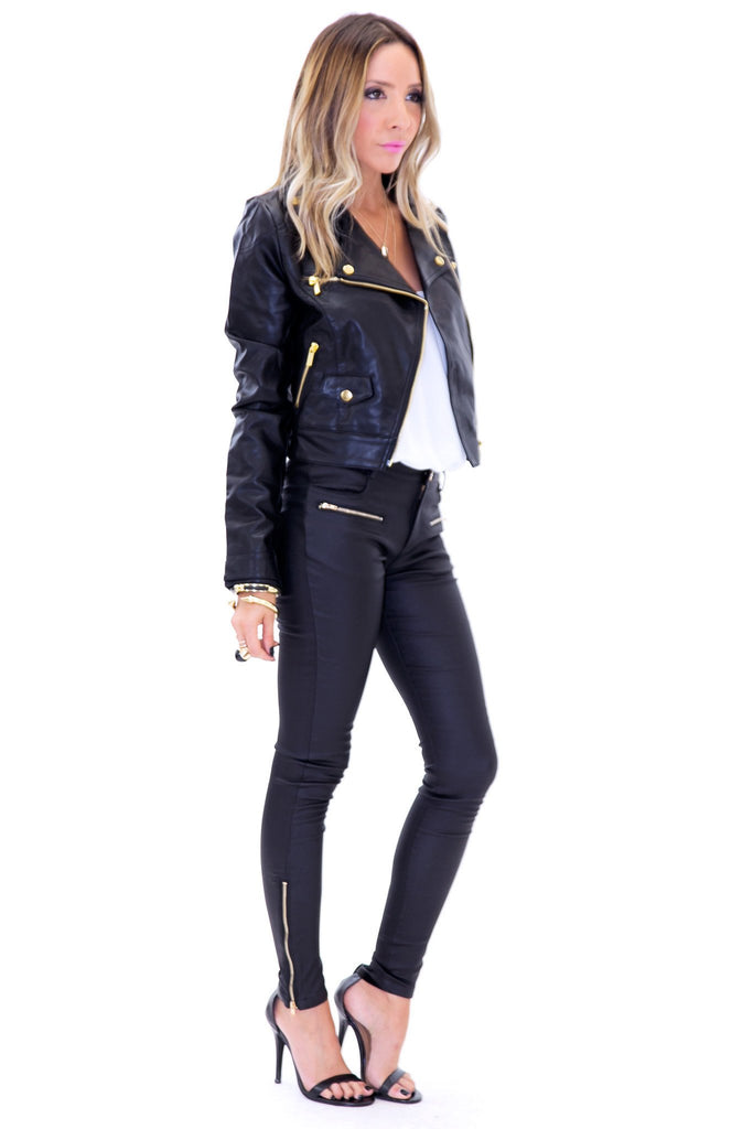 Jacobs Leather Moto Jacket