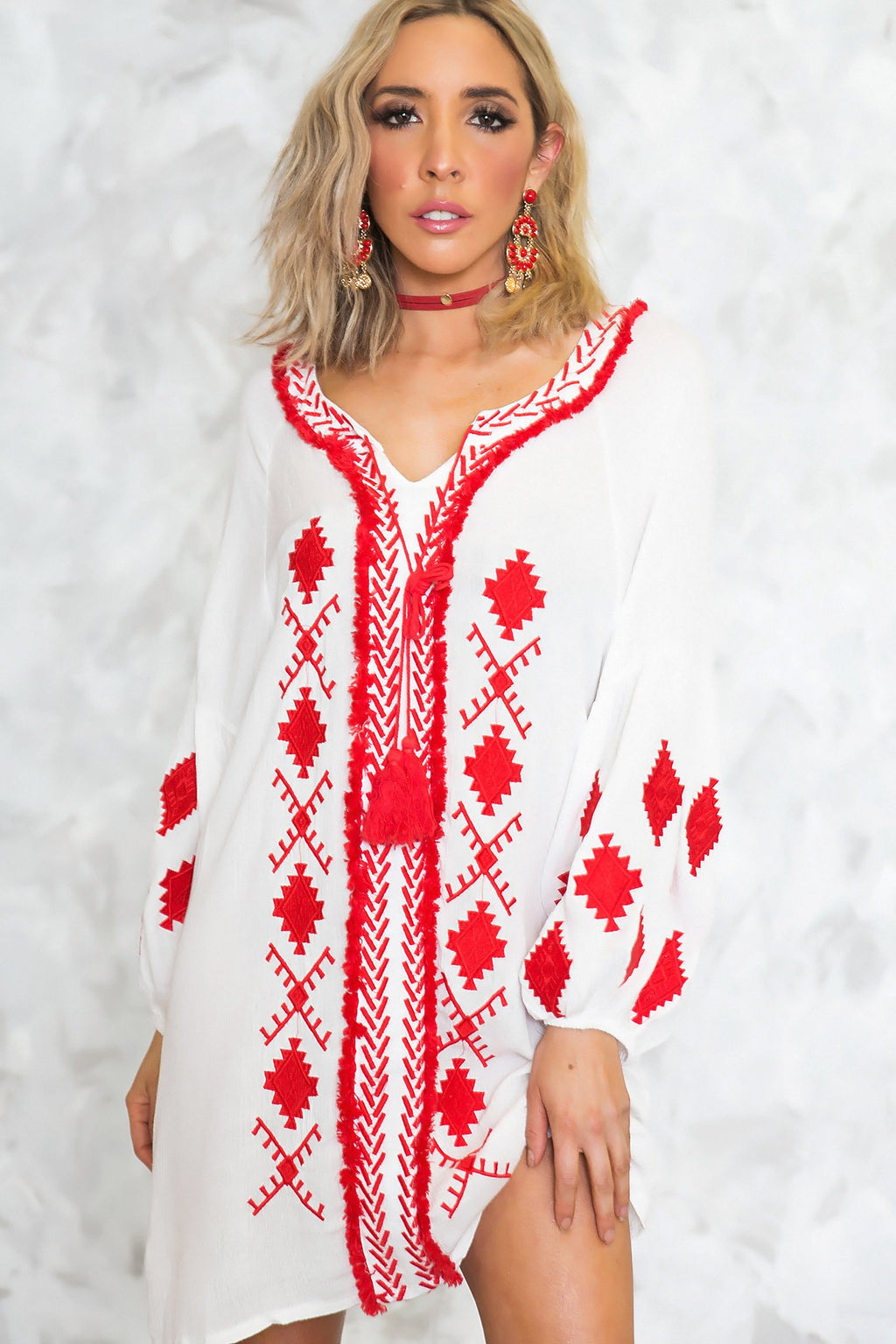 Embroidery Cover-Up Dress - Haute & Rebellious