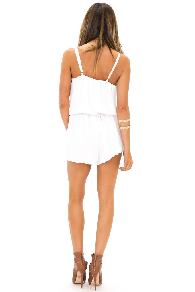 NIAYA ROSE EMBROIDERED ROMPER
