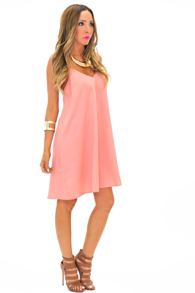 BARIEL V-NECK SHIFT DRESS