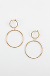 Double Hoop Circular Earrings - Haute & Rebellious