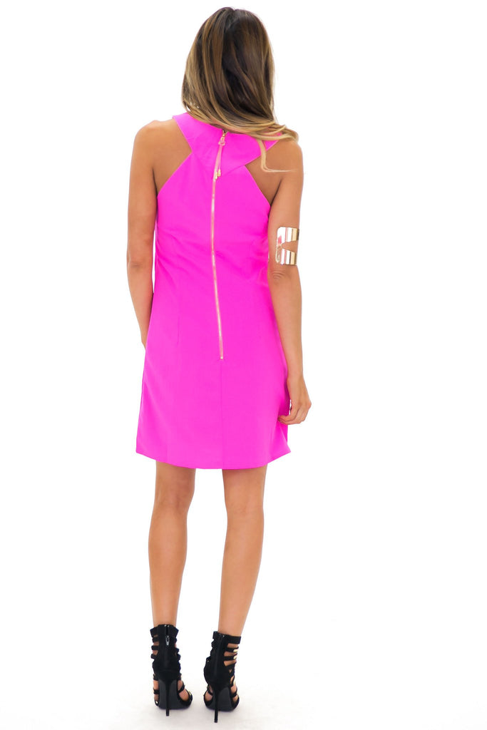 ANELIA CUTOUT SHIFT DRESS