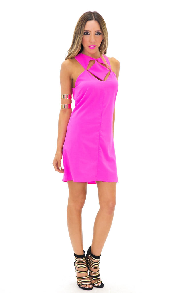 ANELIA CUTOUT SHIFT DRESS - Haute & Rebellious
