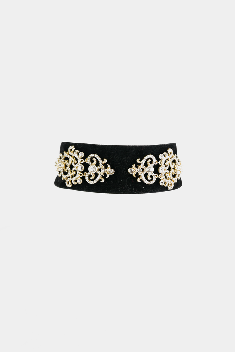 Last Night Velvet Embellished Choker - Haute & Rebellious