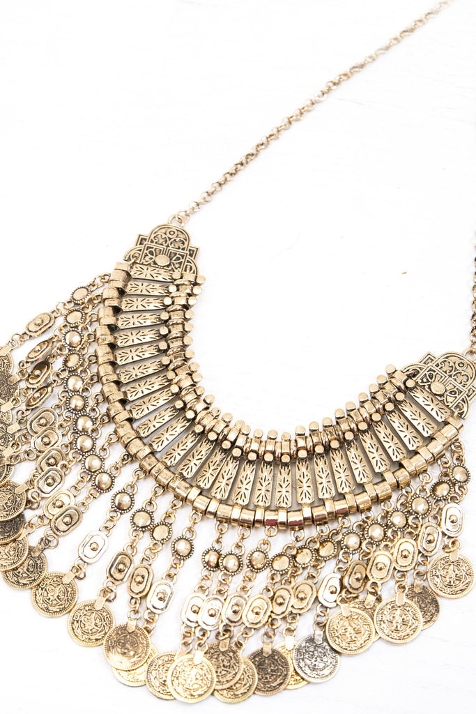 Gypset Coin Necklace - Gold