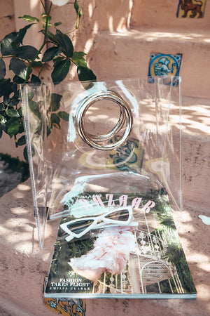 Clear Bag with Metal Handle