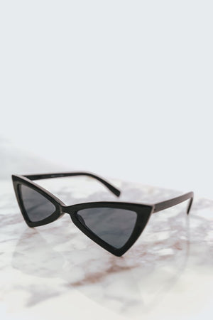 Retro Small Sunglasses - Black
