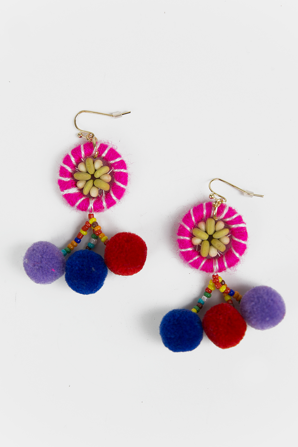 Felt Pom Pom Fiesta Earrings - Haute & Rebellious