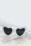 Heart Sunglasses - White