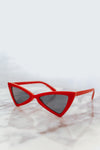Retro Small Sunglasses - Red