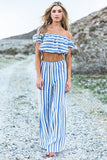 Baha Striped Crop Top