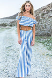 Eisha Striped Linen Beach Pant