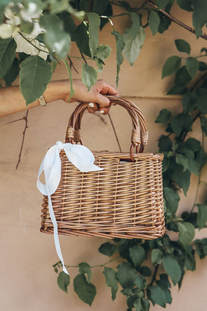 Small Box Basket Bag