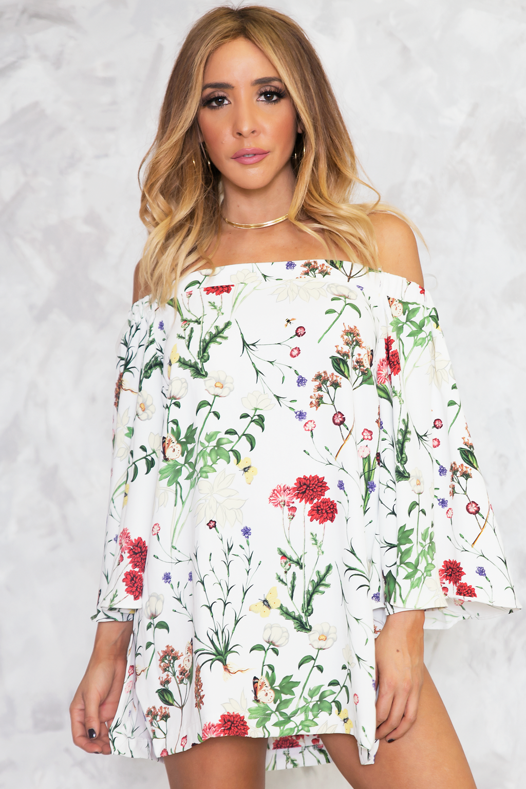 Coming After You Floral Tunic /// ONLY 1-L LEFT/// - Haute & Rebellious