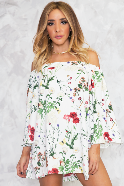 Coming After You Floral Tunic /// ONLY 1-L LEFT///