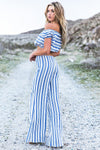 Baha Striped Crop Top - Haute & Rebellious