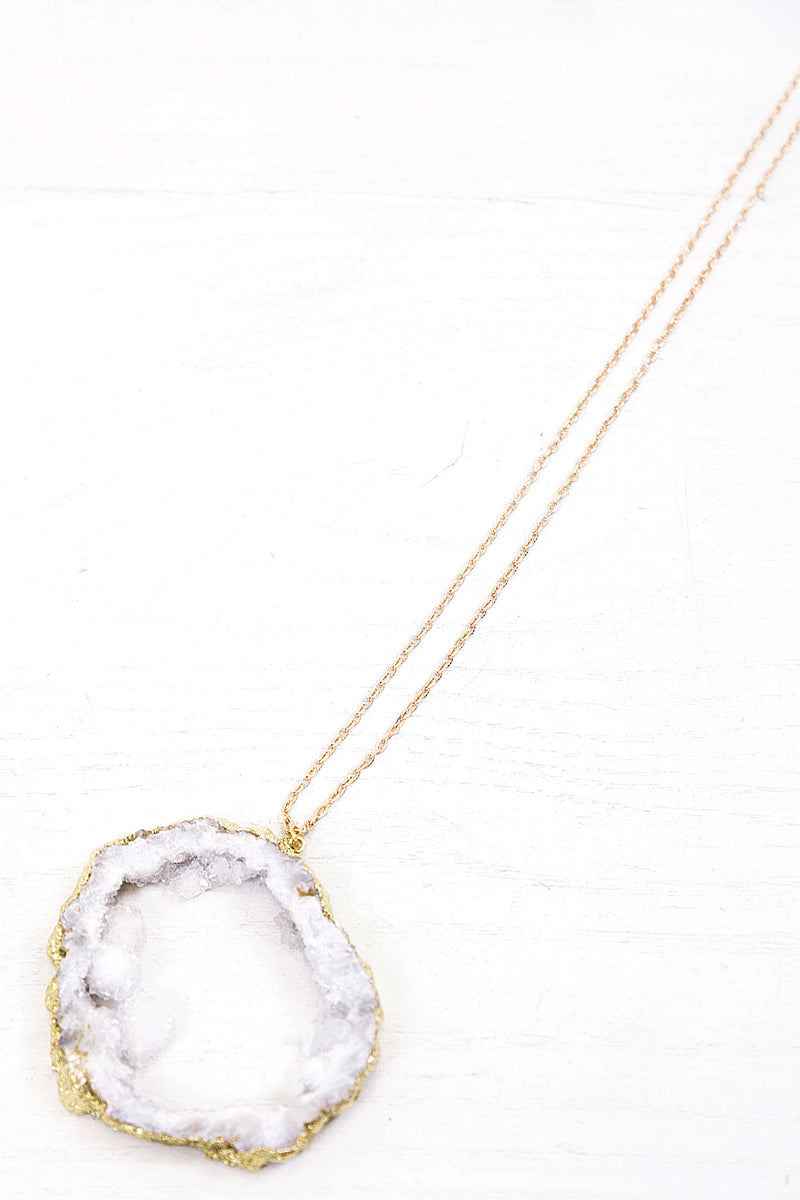 Quartz Necklace  - Gold - Haute & Rebellious