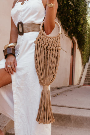 Fringe Rope Bag - Natural