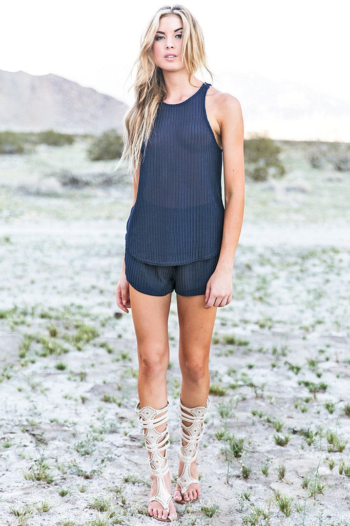 Ester Drawstring  Shorts - Navy