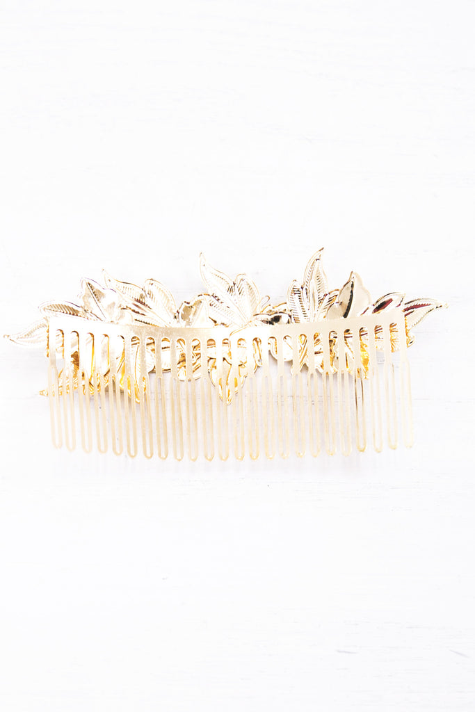 Tasha Gold Leaf Hair Comb