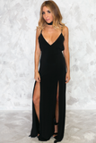 Havana Nights Double Slit Maxi Dress