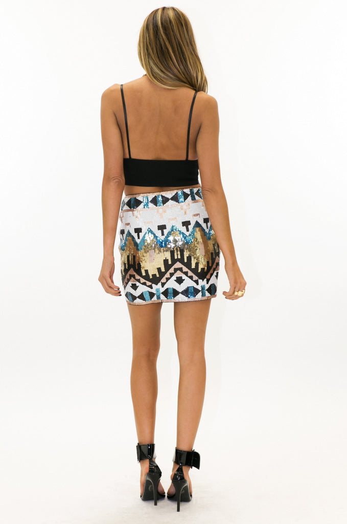 NALIA TRIBAL SEQUIN SKIRT - Haute & Rebellious