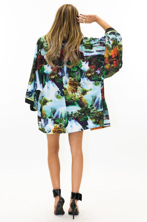 FEATHER FALLS SATIN KIMONO - Haute & Rebellious