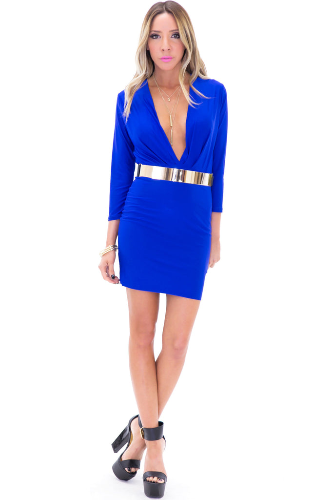 VENETA BODYCON DRESS - Blue