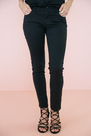 Vivi Skinny Denim Pant - Black - Haute & Rebellious