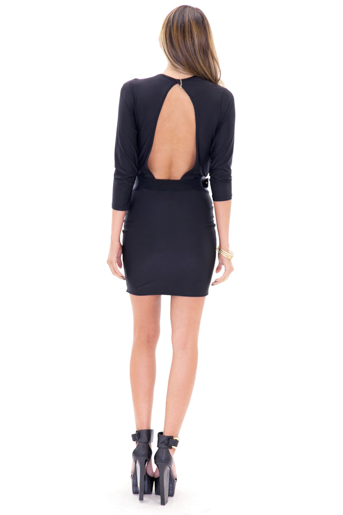 VENETA BODYCON DRESS - Black