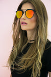 Skylar Reflective Sunglasses - Black/Orange - Haute & Rebellious