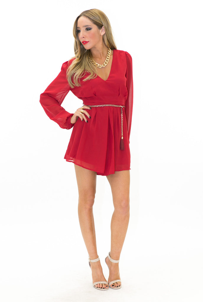 PAULINA ROMPER - Red - Haute & Rebellious