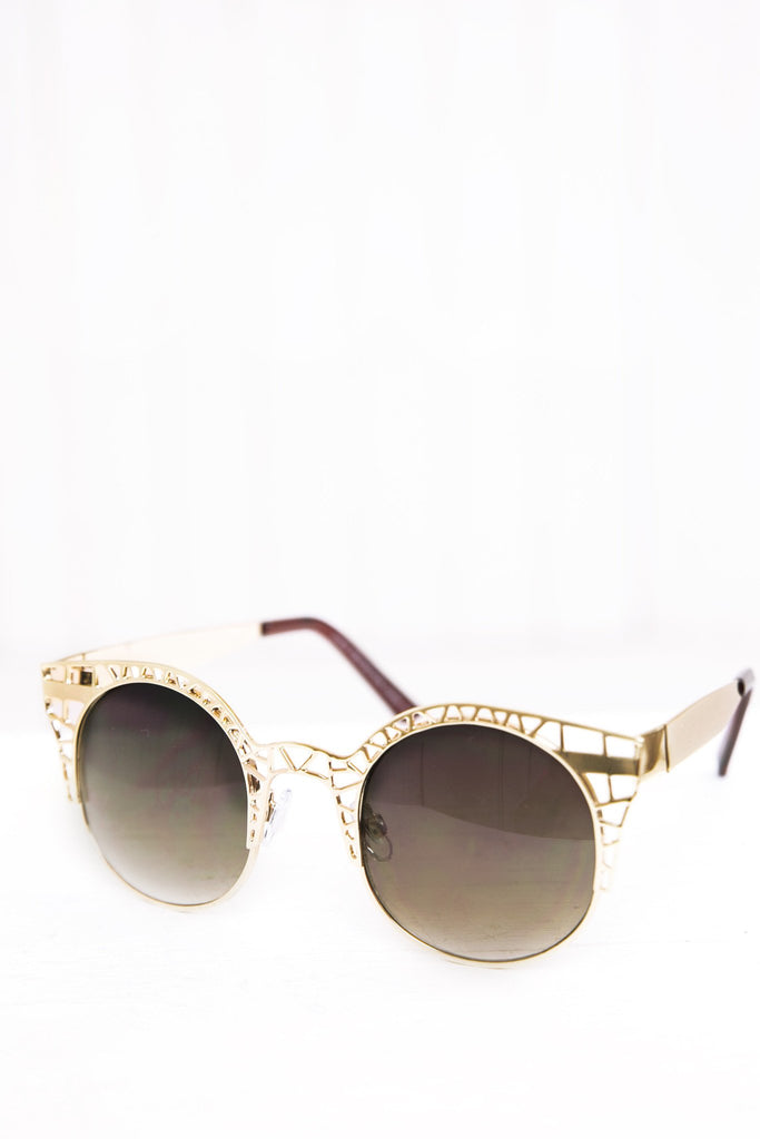Celina Cutout Shades - Gold