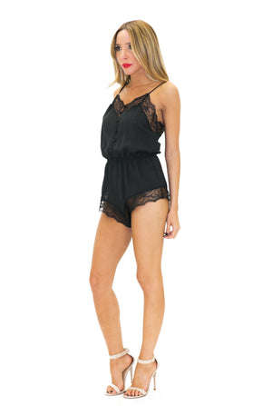MELODI LACE ROMPER - Black /// Only 1-M Left /// - Haute & Rebellious