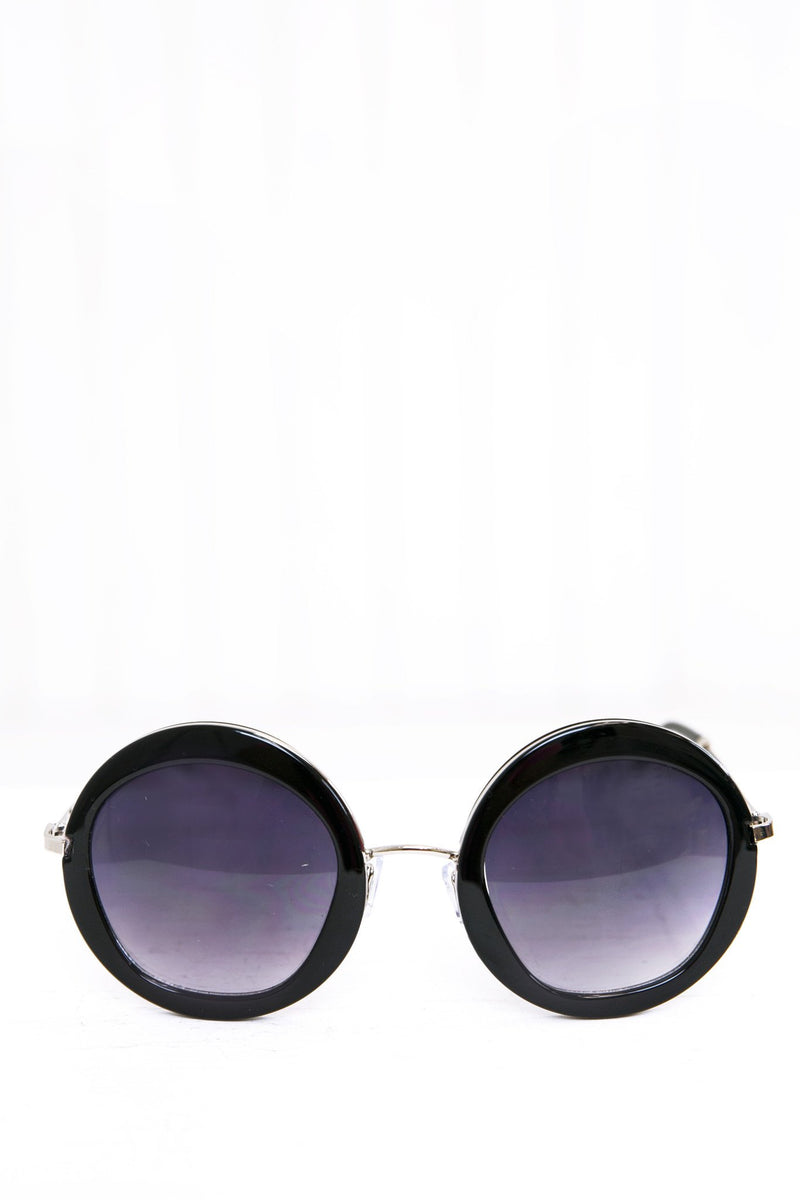 Gia Circle Shades - Black/Silver - Haute & Rebellious