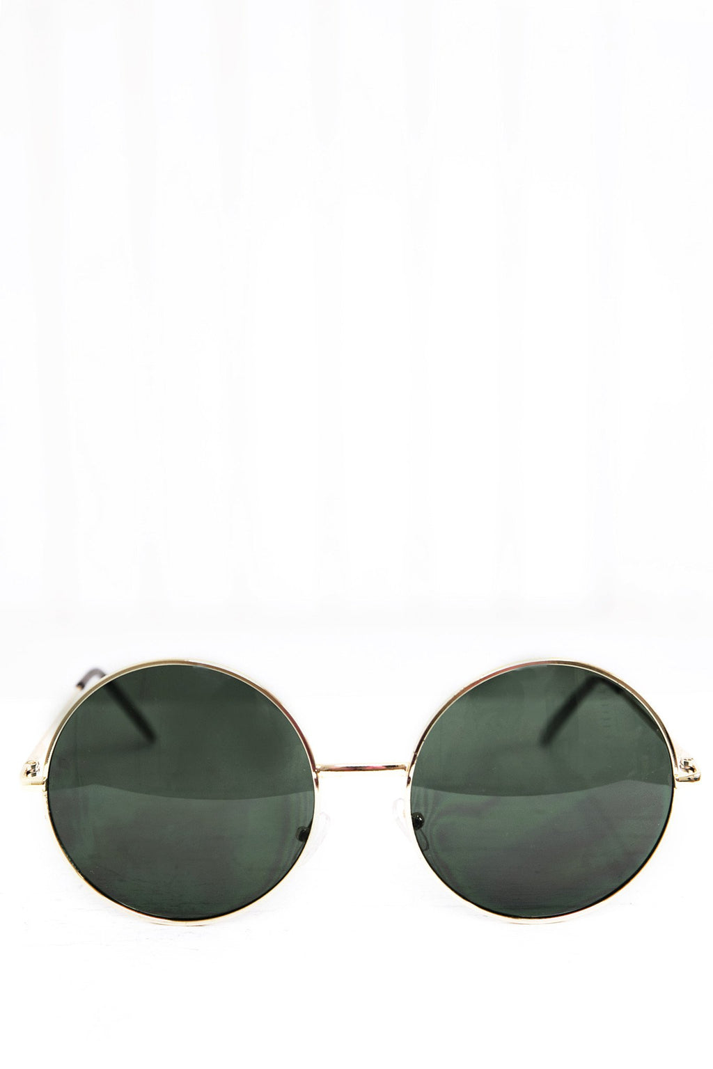 Farrah Round Sunglasses - Green/Gold - Haute & Rebellious