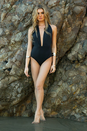 Lexxi Deep-V One-Piece Swimsuit - Haute & Rebellious
