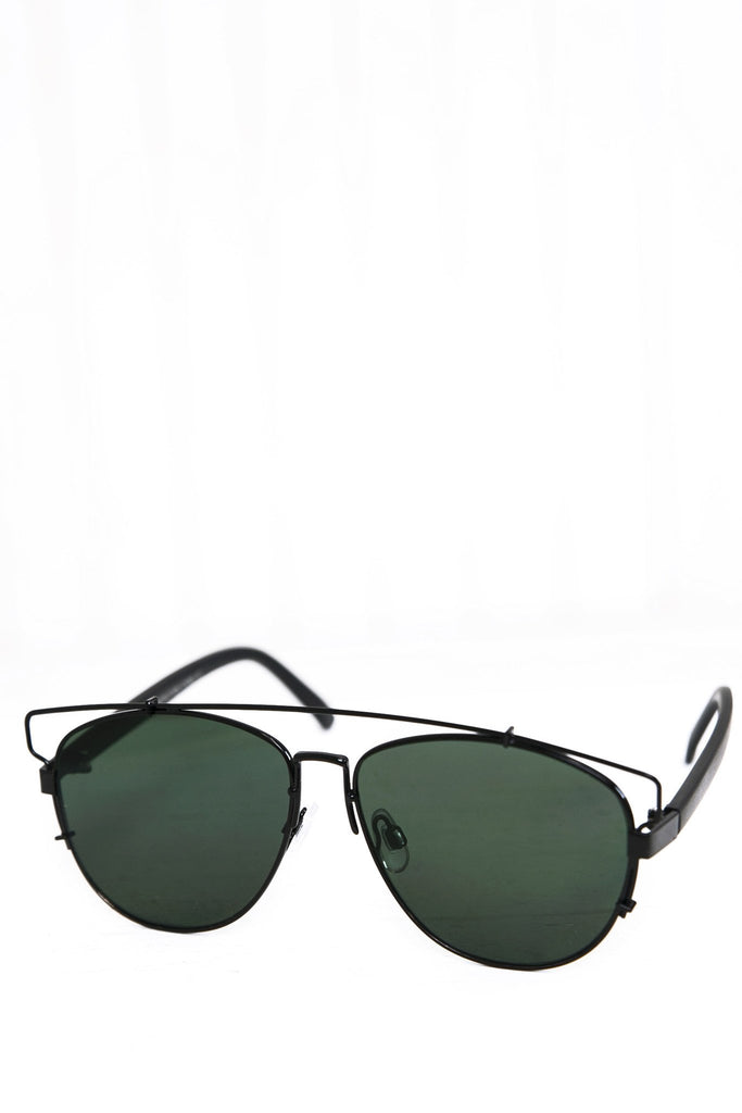 Amelia Aviator Shades - Black