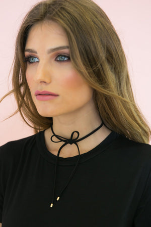 Lace Up Bow Choker - Haute & Rebellious