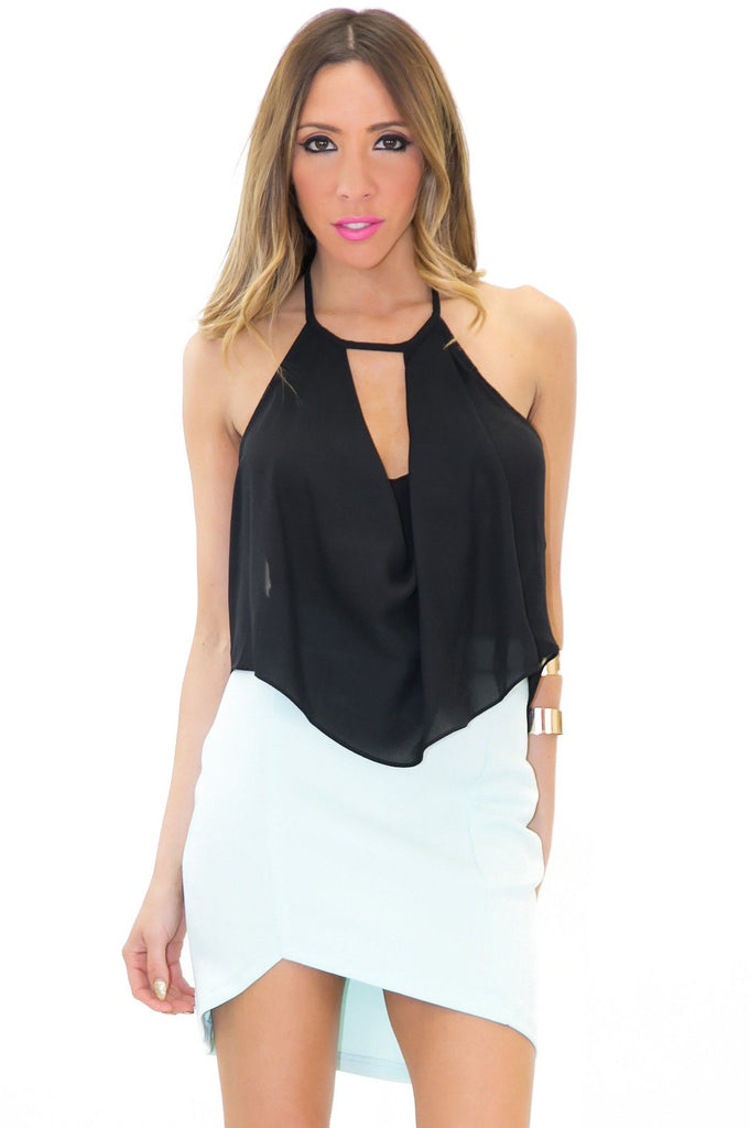 LAYTON CHIFFON CROP TOP - Haute & Rebellious