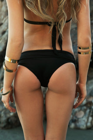 Aniston Gold Ring Bikini Bottom - Haute & Rebellious