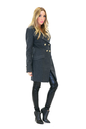BRENON WOOL COAT - Charcoal - Haute & Rebellious