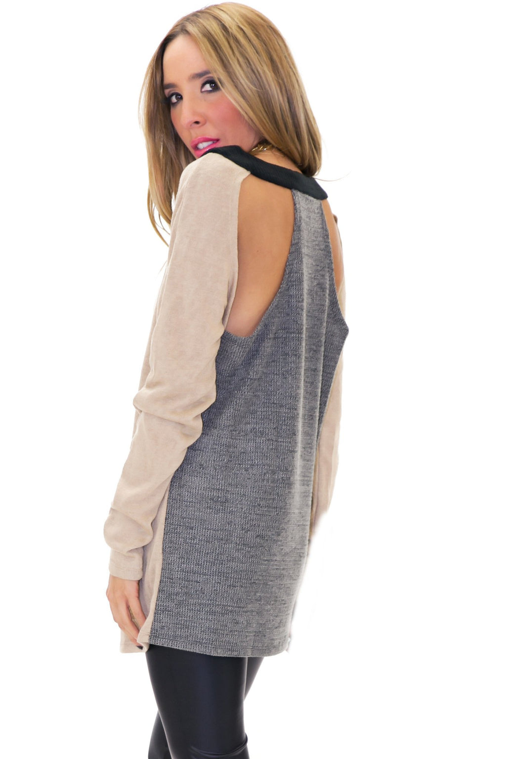 HAYWORTH CUTOUT SWEATER - Haute & Rebellious