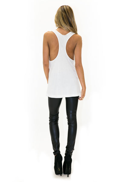 LV LOS ANGELES VINTAGE TANK - White - Haute & Rebellious