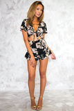 Imaginary Escape Cutout Floral Romper