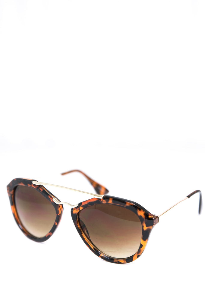 Janice Aviator Shades - Brown