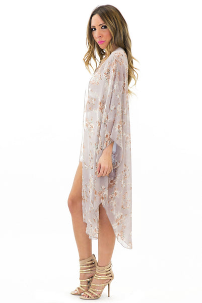In Bloom Chiffon Kimono /// Only 1-S Left ///